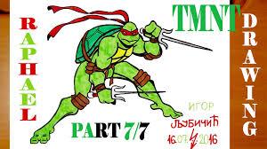 draw raphael teenage mutant ninja turtles tmnt step