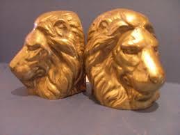 lion heads for sale decorative solid brass lion book ends for sale antiques