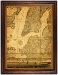 us map framed new york 1776 ratzer plan framed battlemaps us