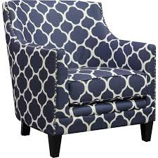 Patterned Accent Chair Picket House Furniture Udh706100ca Deena Marine Patterned Fabric