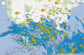Southern Africa Map by Southern Africa Pws Personal Weather Stations Map Thu 2012 Jun
