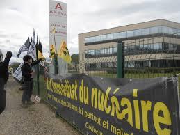 areva siege marche antinucléaire 8ème jour le centre nucléaire de marcoule