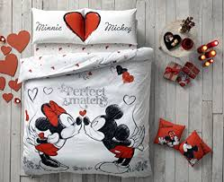 Mickey And Minnie Bedroom Ideas Amazon Com Mickey U0026 Minnie Mouse Bedding Duvet Cover Set 100