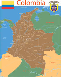 Colombian Map Colombia Map With Cities Blank Outline Map Of Colombia