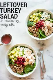 cranberry salads thanksgiving leftover turkey salad with cranberry vinaigrette u2022 a sweet pea chef