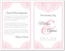 template for wedding program revival pink wedding program template myexpression 35663