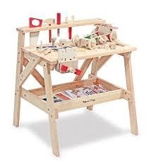 Melissa Doug Deluxe Wooden Multi Activity Table Amazon Com Melissa U0026 Doug Solid Wood Project Workbench Play