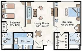 Traditional Floor Plan Two Bedroom Apartment Floor Plan Larksfield Place