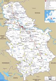 Virginia Map With Cities Large Road Map Of Serbia With Cities And Airports Vidiani Com