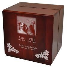 dog urns large dog urns cherry finish wood sized urn cube