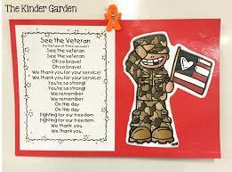 the kinder garden veterans day activities