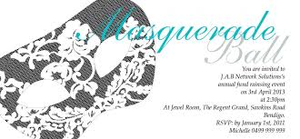 masquerade dl postcard in white invitation