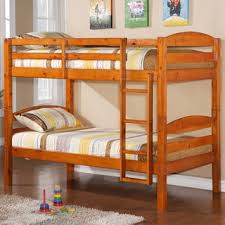 Solid Oak Bunk Bed Honey Solid Wood Bunk Bed Free Shipping Today