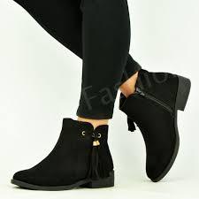 womens ankle boots uk ebay womens ankle boots low heel chelsea fringe winter smart