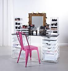 professional makeup station build a make up station with style organisation station