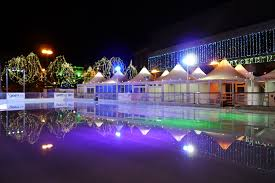outdoor winter wonderland for derby christmas ice rink