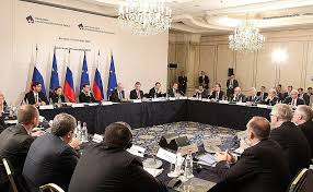 members of the round table meeting with members of russia eu industrialists round table