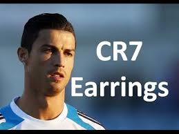 cr7 earrings cristiano ronaldo earrings