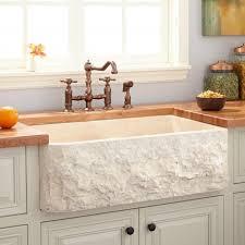 Stone Sinks Kitchen by Granite U0026 Marble Stone Farmhouse Sinks Signature Hardware