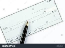 blank check ballpoint pen account routing stock photo 11827390