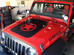 blacked out jeep amazon com jeep wrangler jk hood blackout matte black star hood