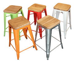 Tolix Bar Table Coloured Metal Tolix Bar Stools For Summer Living Interior Classics