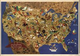 A Map Of The Usa William Gropper His Midcentury Map Of American Folklore