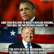 Michigan Memes - trump obama brutally compared in epic meme