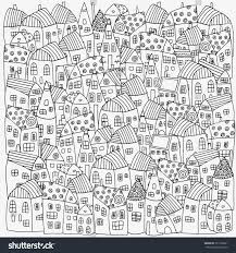 gallery coloring book houses coloring page for kids