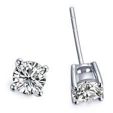 push back earrings 0 50ct diamond 14k white gold stud earrings ebay