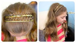 double braid sparkly headband cute girls hairstyles youtube