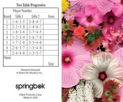 two table progressive tally blossom bouquet bridge tally sheets