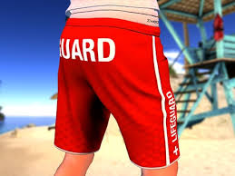 second life marketplace zwear lifeguard shorts u0026 tank top