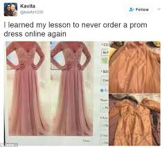 prom dresses ordered online look horrible in real life daily