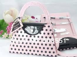 manicure set favors pink polka dot purse manicure set favor wedding bridal shower