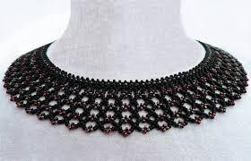 necklace patterns images Free pattern for beaded necklace silvina beads magic jpg