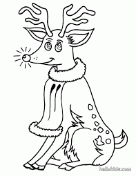 pictures rudolph red nosed reindeer kids coloring