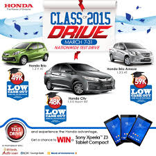 honda philippines honda cars philippines u0027 class of 2015 drive promo aktivshow