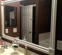 Frame Bathroom Mirror Kit Mirror Trim Wood Trim Around Bathroom Mirror Trim Around Mirrors
