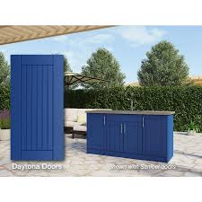 kitchen cabinets with blue doors weatherstrong 66 in w x 34 5 in h x 24 in d reef blue door base semi custom cabinet