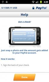 how to put a check on a prepaid card paypal for android now lets you deposit checks with a picture