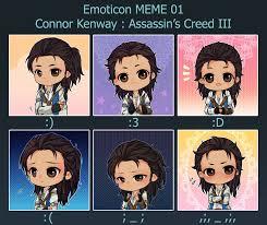 Emoticon Memes - ac connor emoticon meme 01 by princeofredroses on deviantart