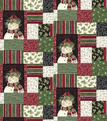 holiday inspirations fabric susan winget snowman cardinal patch