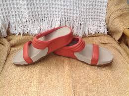2016 latest fitflop peach orange slider ladies sandals excellent