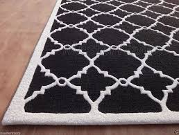 Black White Area Rug 8 10 Black Area Rug Jannamo