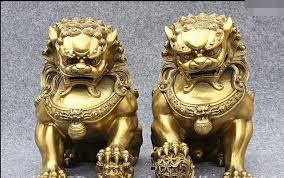fu dog statues 11 classic brass feng shui foo fu dog guardion lion