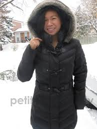 review esprit black long winter coat petite in the city