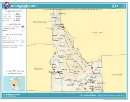 physical map of idaho united states geography for idaho