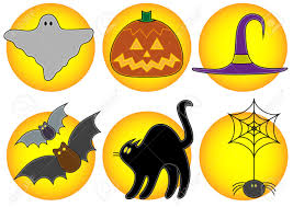 free halloween icon cartoon halloween icons royalty free stock image image 20038776