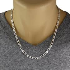 figaro chain necklace images Sterling silver figaro chain necklace 6mm gauge 150 available jpg